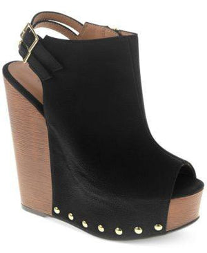 CHINESE LAUNDRY JEEPERS PLATFORM WEDGE SANDALS BLACK-CHINESE LAUNDRY-Fashionbarn shop