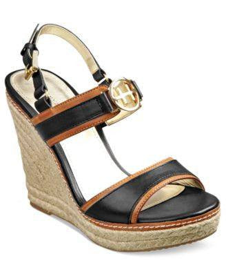 TOMMY HILFIGER PLATFORM WEDGE SANDALS-TOMMY HILFIGER-Fashionbarn shop