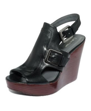 CALVIN KLEIN PLATFORM WEDGES PUMPS-CALVIN KLEIN-Fashionbarn shop