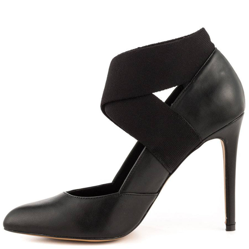 STEVEN Black Pointed Toe Pumps Rustyy High Heel-STEVEN-Fashionbarn shop