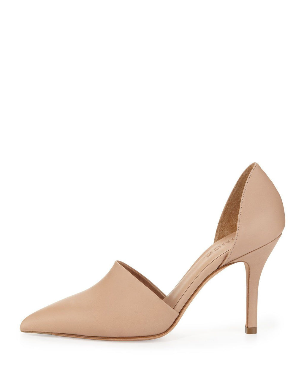 Vince Beige Claire Twopiece Leather Pump Cappuccino-VINCE-Fashionbarn shop
