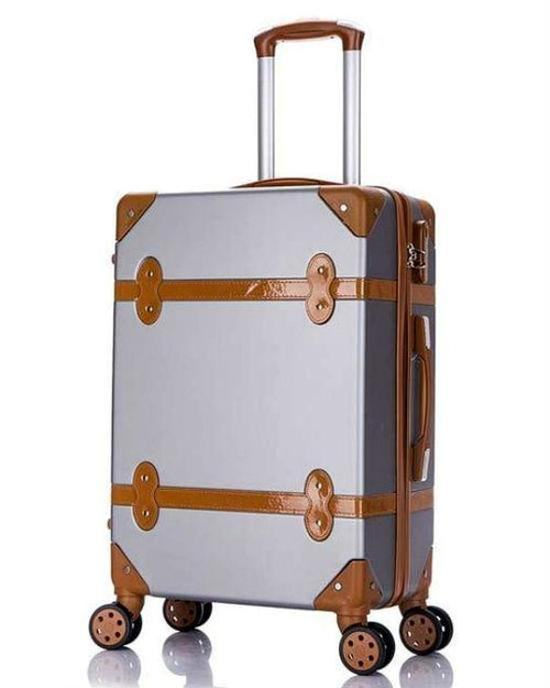 BeaSumore New Retro Rolling Luggage Set