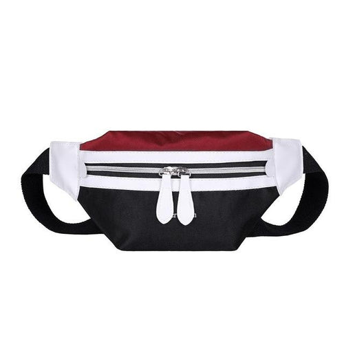 Women's Multicolor Canvas Fanny Pack Banana Belt Bag