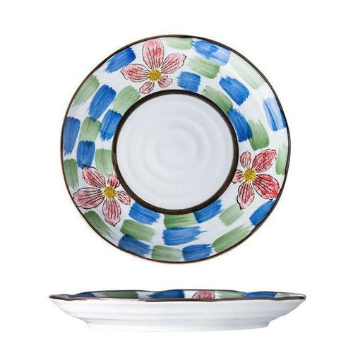 "Zuo Japanese 8"" Creative Hand-painted Salad Plate"