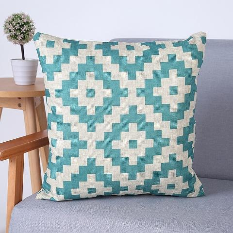 "Colorful Geometric Cushion Cover Decorative Throw Pillows, 18"" x 18"""