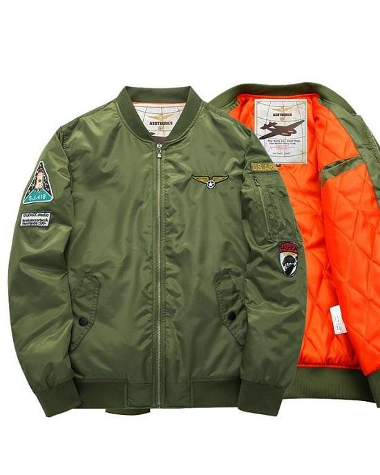 Asstseries Men's Military Bomber Jacket