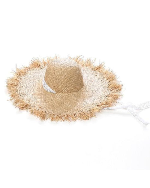 Women's Lace Strap Straw Hat