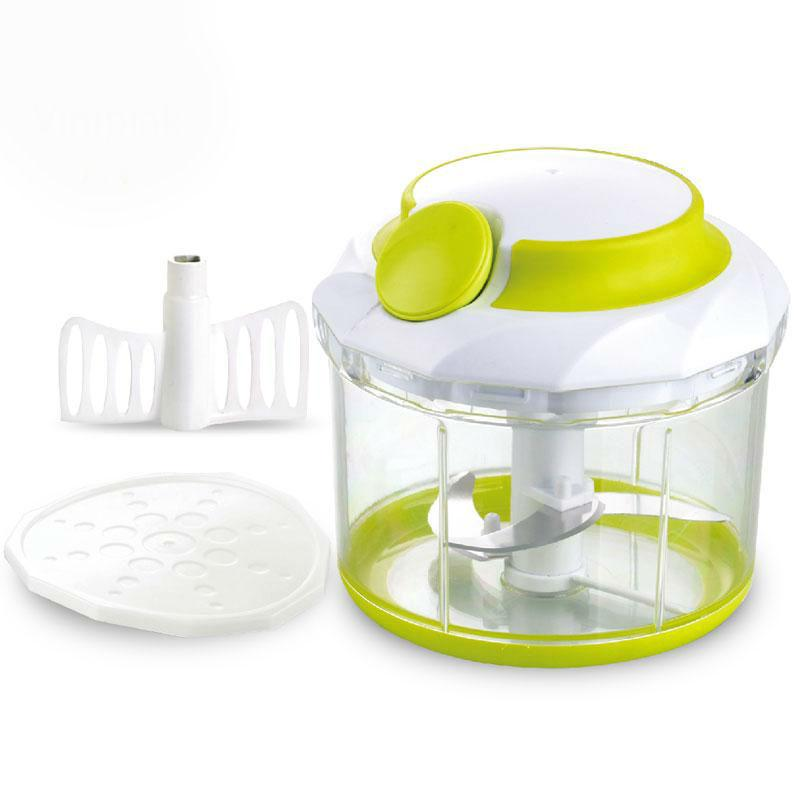 Manual Mincer Food Storage Container Kitchen Portable Onion Nut Chopper