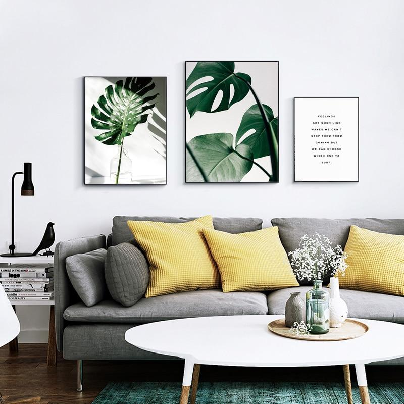 Nordic Canvas Modern Prints Plant Leaf