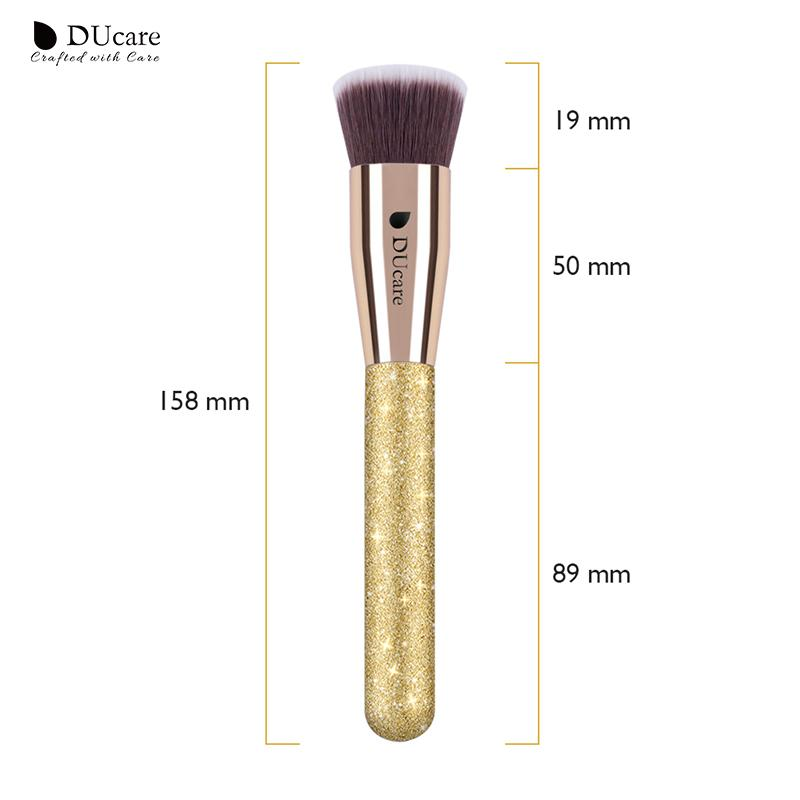Golden Flat Top Foundation Kabuki Face Make Up Brushes