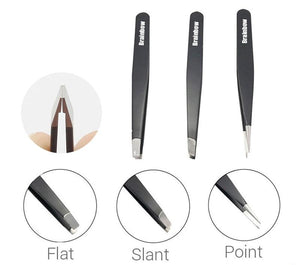 Steel Slant Eyebrow Tweezers For Face Hair Removal Set