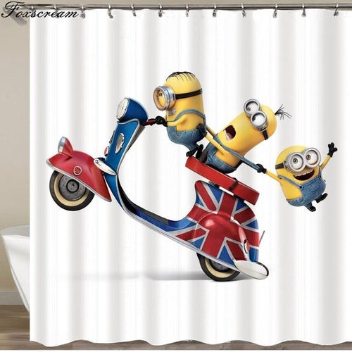 Yellow Mischievous Minions Series Shower Curtains