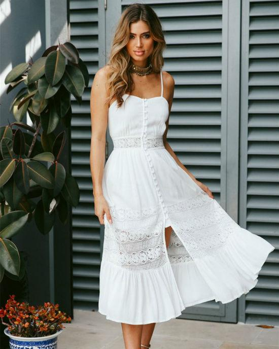 Women's Sleeveless Sling V-Neck Long Maxi Dress