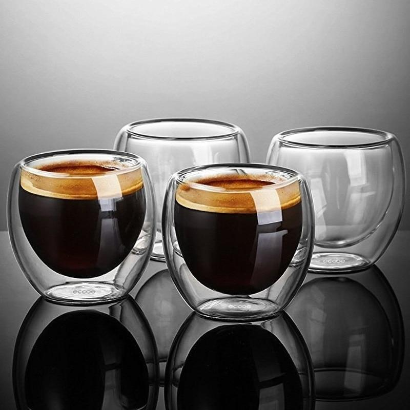 New Double Walled Ecooe Coffee Glasses Cups