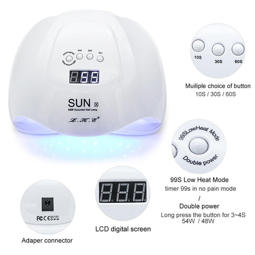 L.K.E LED Display True Glow Portable Nail Dryer