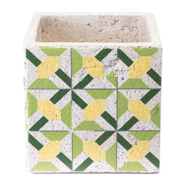 Zuo Cement Flower Planter Green And Yellow