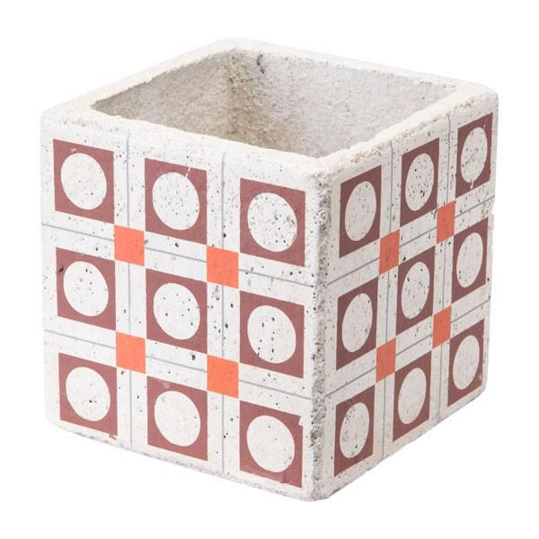 Zuo Cement Squares Planter Red And Orange