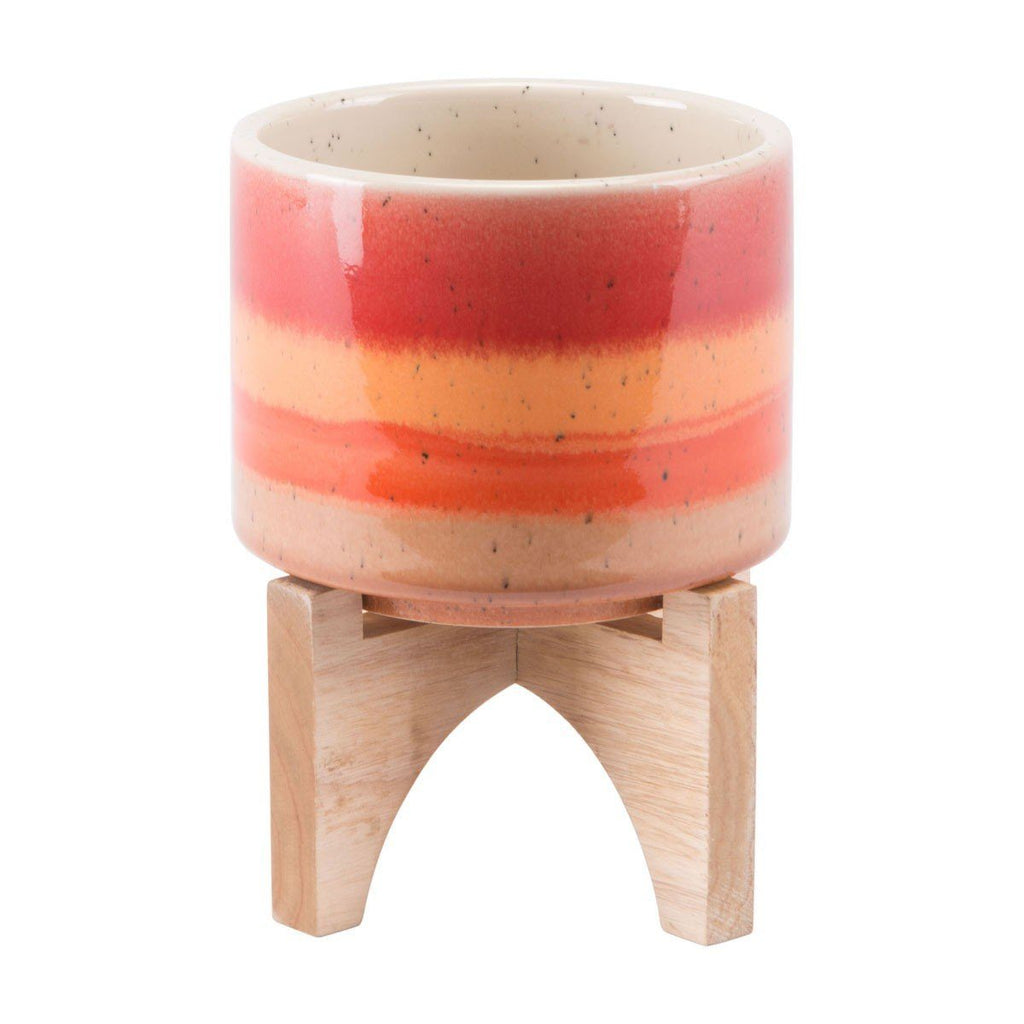 Zuo Orange Stripes Planter Small Orange