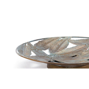 Zuo Feather Plate Sm Distressed Gold