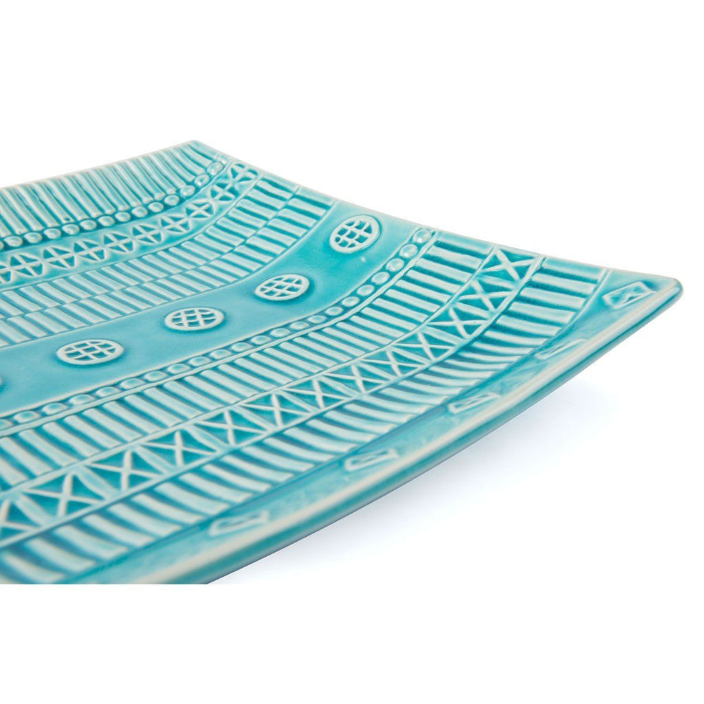 Zuo Tribal Plate Bowl Blue