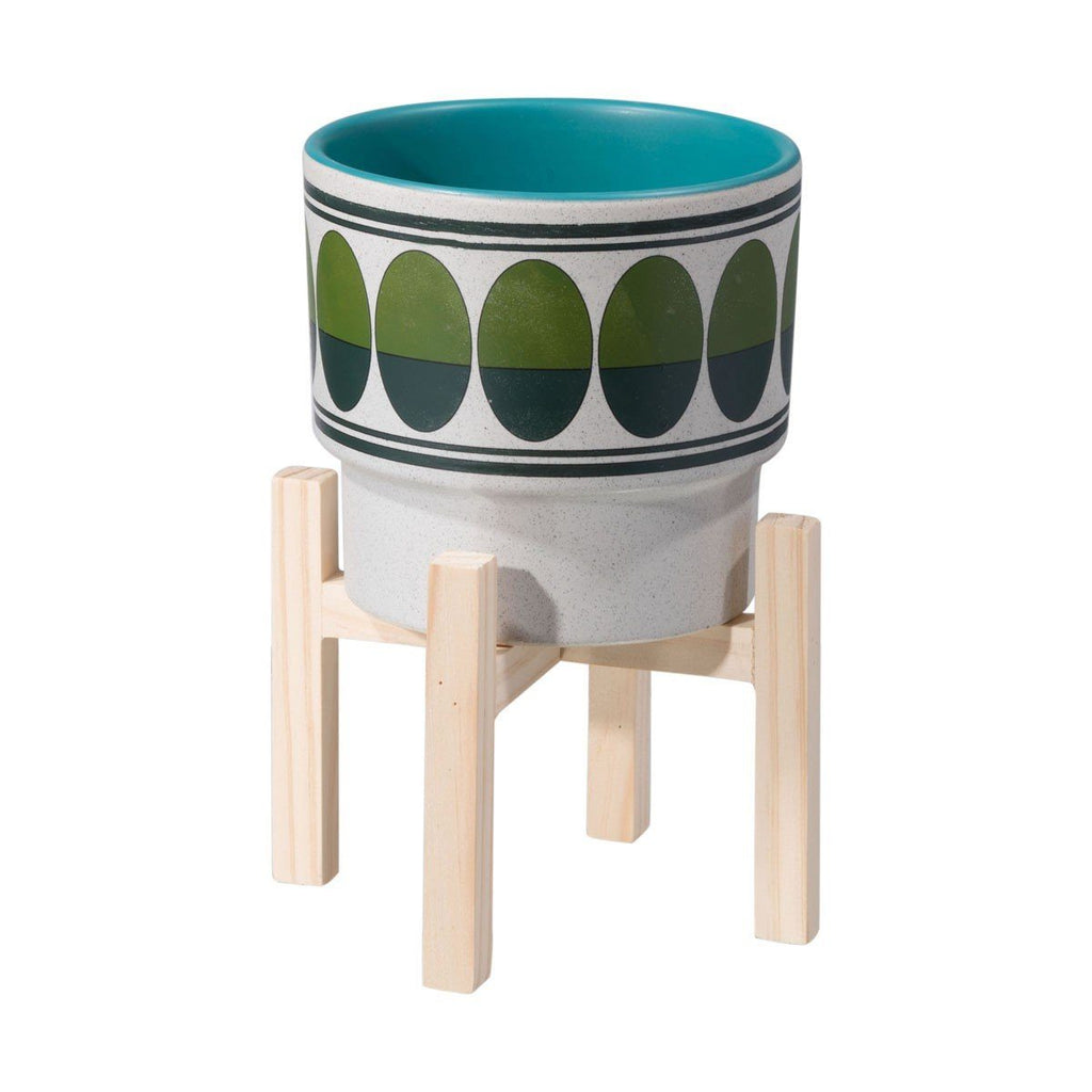 Zuo Retro Small Planter Green & Teal
