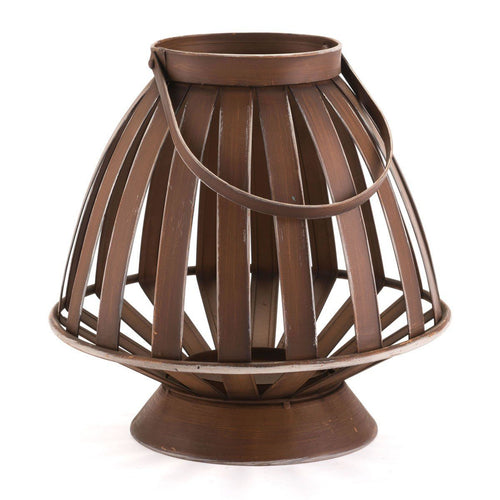 Zuo Bamboo Lantern Candle Holder Brown