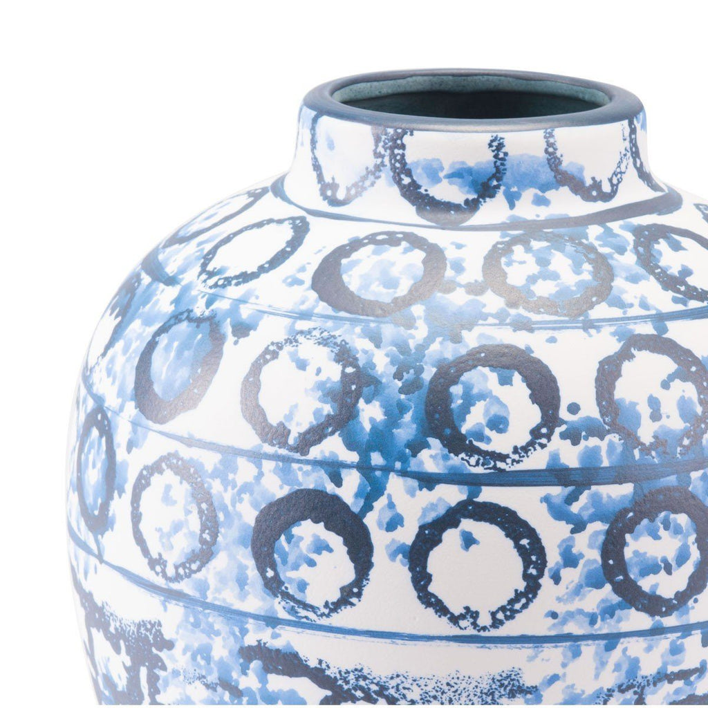 Zuo Ree Md Vase Blue & White