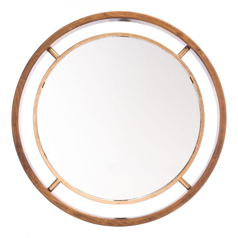 Zuo Round Gold Mirror