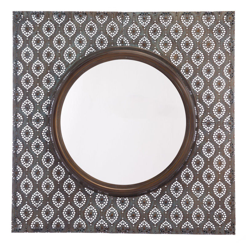 Zuo Plaque Mirror Antique Metal