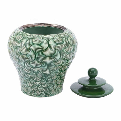Ventra Small Temple Jar Green