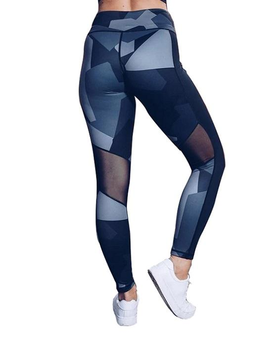 Women's Geometry Printed Ankle Legging