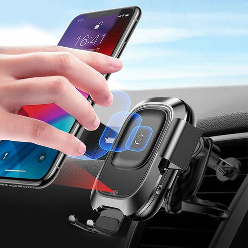 Qi Car Wireless Charger, Intelligent Infrared Fast Wirless Charging Car Phone Holder