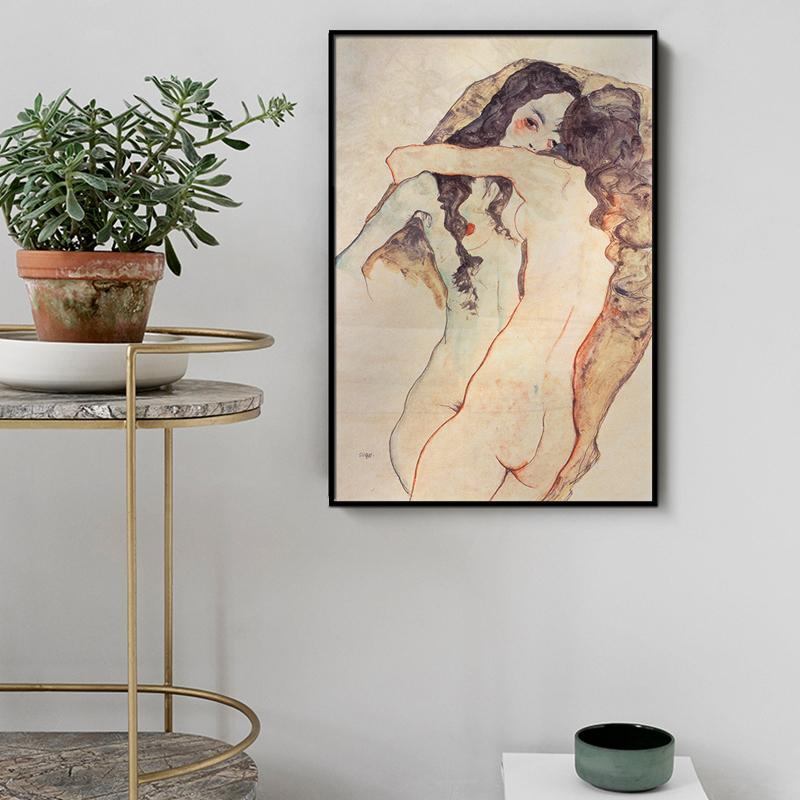 Egon Schiele Character Canvas Painting Wall Art