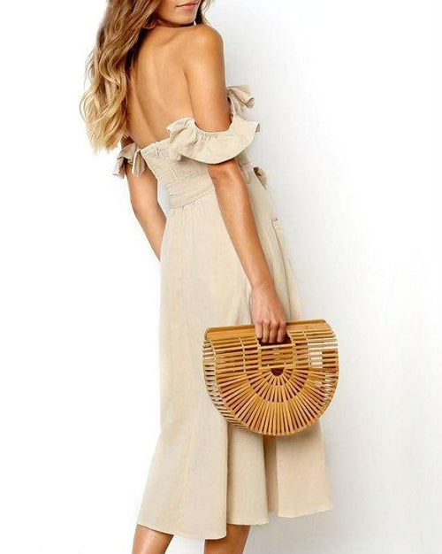 Women's Off Shoulder Ruffle Dress