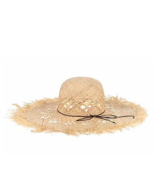 Women's Wide Brim Straw Hollow Out Beach Sunhat