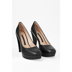 FRENCH CONNECTION Nambia High-Heeled Leather Pumps-FRENCH CONNECTION-Fashionbarn shop