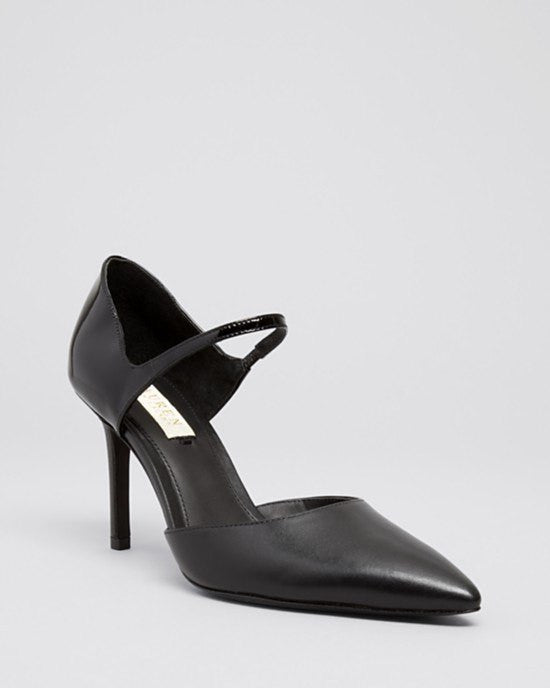 Lauren Ralph Lauren Pointed Toe Mary Jane Pumps - Exclusive Kenzie High Heel-LAUREN RALPH LAUREN-Fashionbarn shop