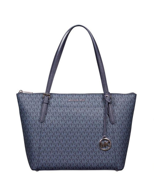 Michael Kors Voyager Large East West Top Leather Zip Tote