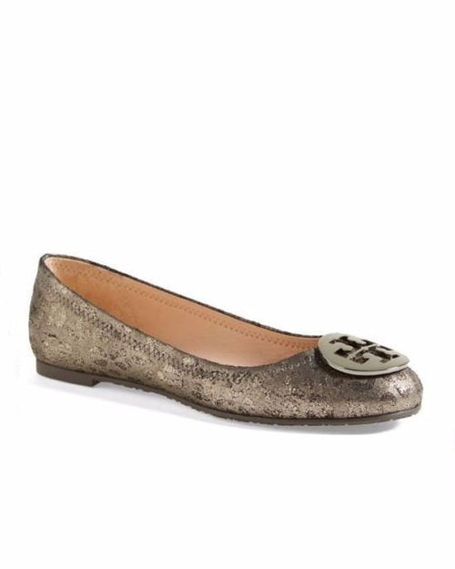 Tory Burch Powder Cheetah Print Reva Logo Ballet Flats-TORY BURCH-Fashionbarn shop