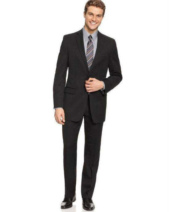 DKNY Trim Fit Mens Wool 2-Piece Business Suit-DKNY-Fashionbarn shop