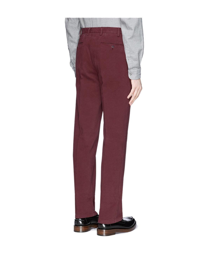 Canali Stretch-Cotton Flat-Front Dress Pants, White