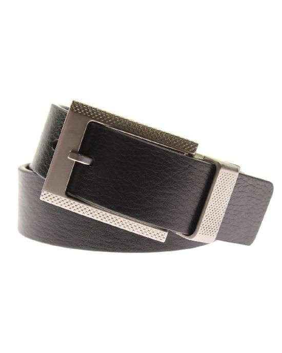 Robert Graham Mens Posner Black Leather Reversible Casual Belt