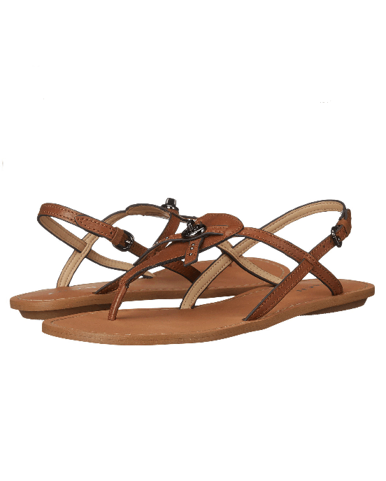 COACH Camara Flats Leather T-Strap Thong Sandals-COACH-Fashionbarn shop