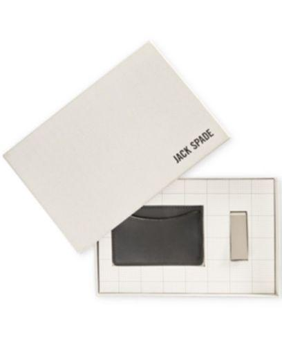 Jack Spade Leather Credit Card Case & Money Clip Box Set