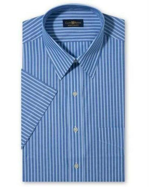 Club Room End on End Blue Stripe Dress Shirt-CLUB ROOM-Fashionbarn shop