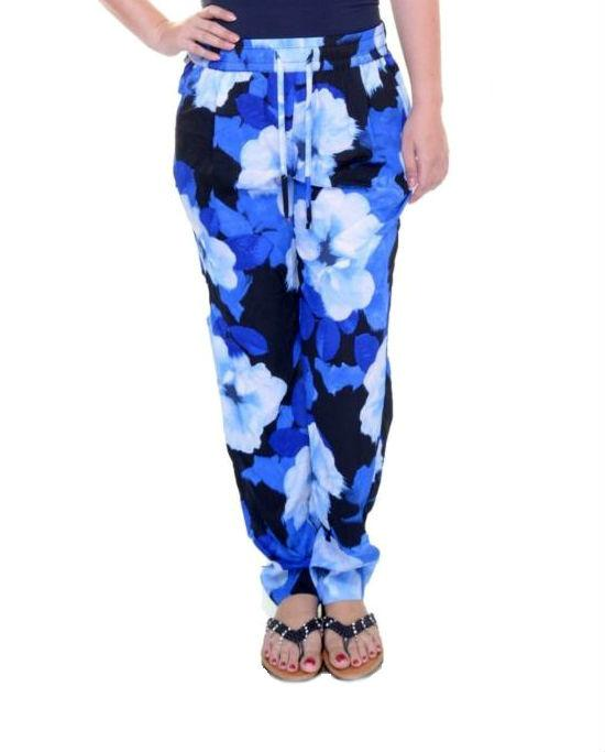 Calvin Klein Blue Printed Drawstring Pants