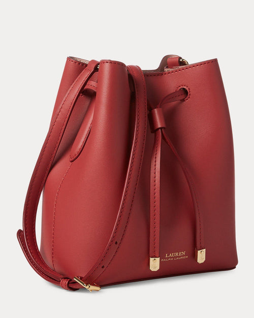 Lauren Ralph Lauren Dryden Debby II Mini Leather Drawstring Bag