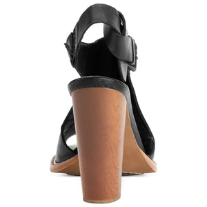 CALVIN KLEIN SALLIE SANDALS BLACK 7M-CALVIN KLEIN-Fashionbarn shop