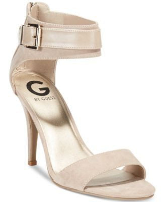 G By Guess Beige Womens Makense Two Piece Sandals-G BY GUESS-Fashionbarn shop