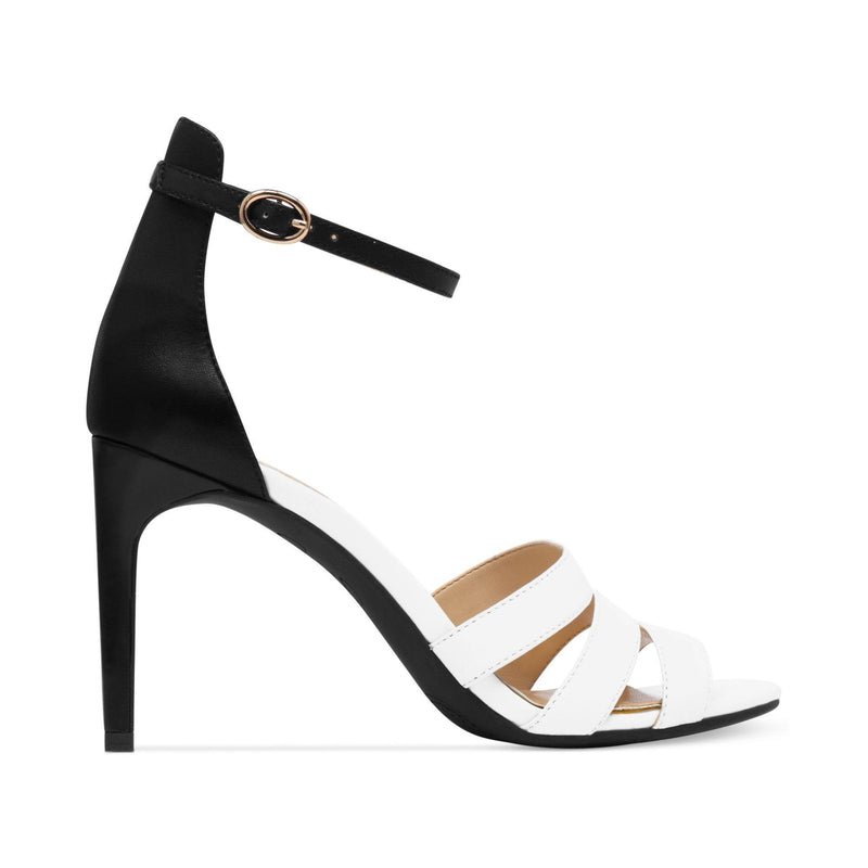 JESSICA SIMPSON MASELLI SINGLE SOLE SANDALS BLACKWHITE-JESSICA SIMPSON-Fashionbarn shop